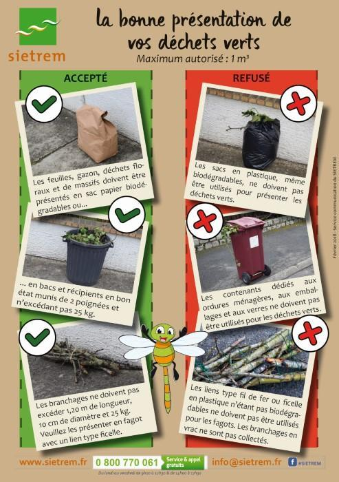 La bonne présentation de vos déchets verts